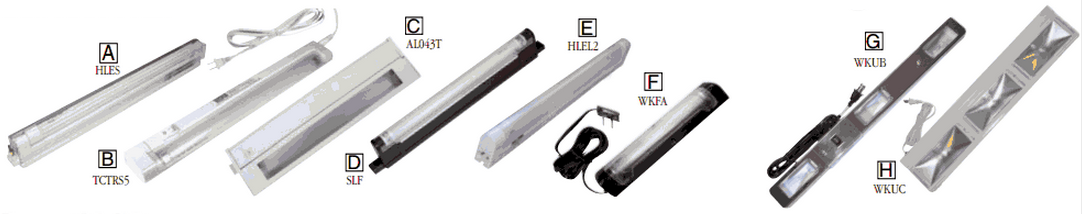 Strip Lights - Task Lights - Fluorescent & Halogen