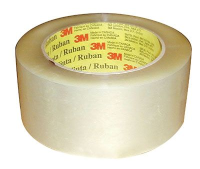 "3M Scotch Industrial Box Sealing Tape 371 Clear 2"" X 109 yd"
