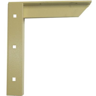 "A & M Concealed Shelf Support Bracket 9"" Almond"