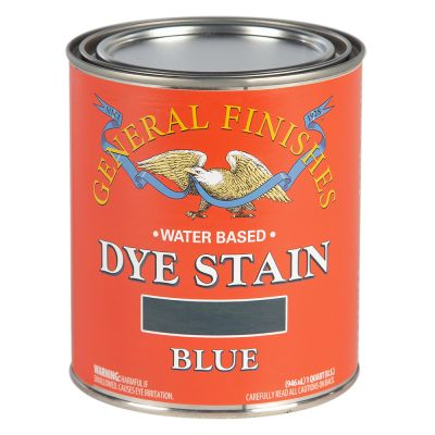 General Finishes Water Based Dye Stain Blue