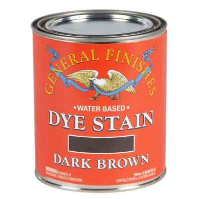 General Finishes Water Based Dye Stain Dark Brown