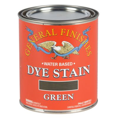 General Finishes Water Based Dye Stain Green