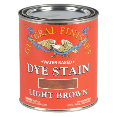 General Finishes Water Based Dye Stain Light Brown