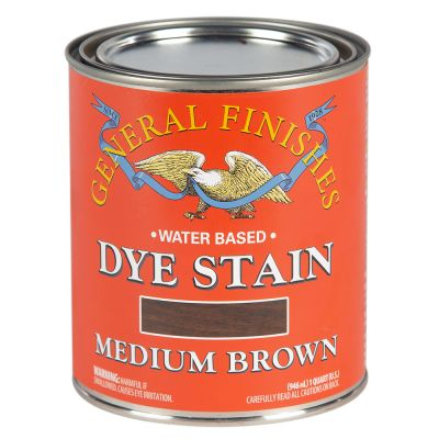 General Finishes Water Based Dye Stain Medium Brown