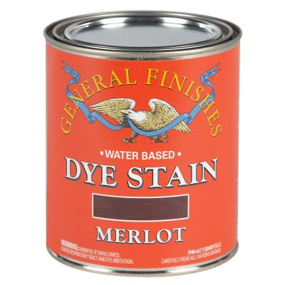 General Finishes Water Based Dye Stain Merlot