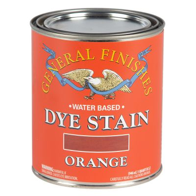 General Finishes Water Based Dye Stain Orange