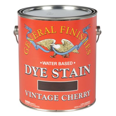 General Finishes Water Based Dye Stain Vintage Cherry