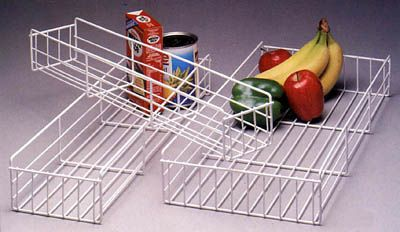 "KV Pantry Pullout Basket, 4"" white wire"