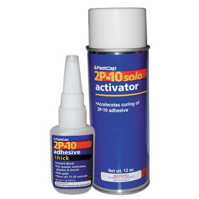 FastCap 2P-10 AdhesiveSystem Activator and Thick adhesive