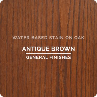 General Finishes Water Base Stain ANT BROWN 1 Pint