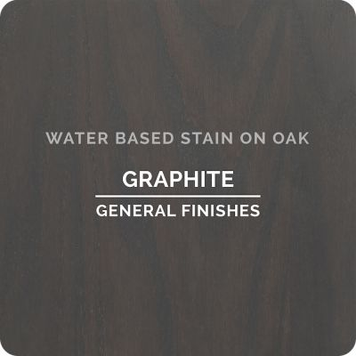General Finishes Water Base Stain GRAPHITE 1 Pint