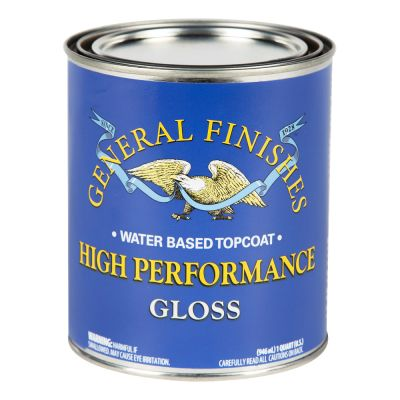 General Finishes Water Based High Performance Polyurethane Top Coat Gloss Quart