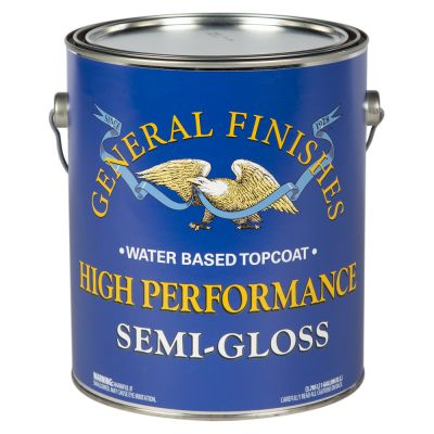 General Finishes Water Based High Performance Polyurethane Top Coat Semi-Gloss Gallon