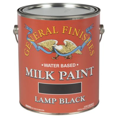 General Finishes Water Based Milk Paint Lamp Black