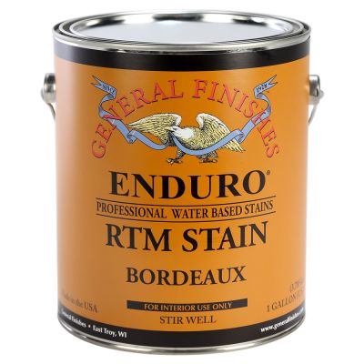 General Finishes Water Based RTM Stain Bordeaux Gallon