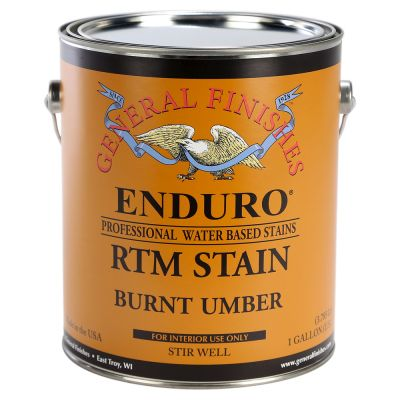 General Finishes Water Based RTM Stain Burnt Umber Gallon