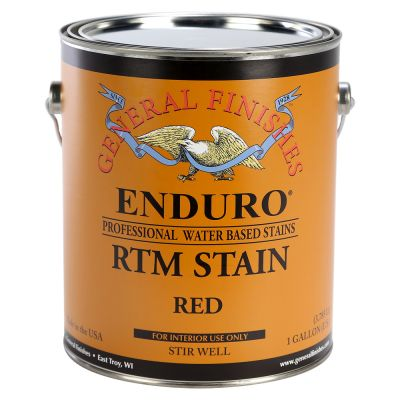 General Finishes Water Based RTM Stain Red Gallon