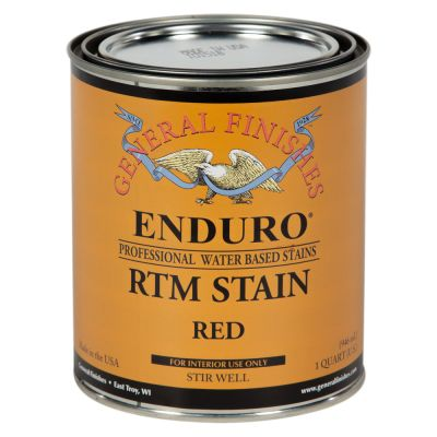 General Finishes Water Based RTM Stain Red Quart