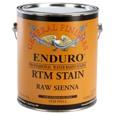 General Finishes Water Based RTM Stain Raw Sienna Gallon