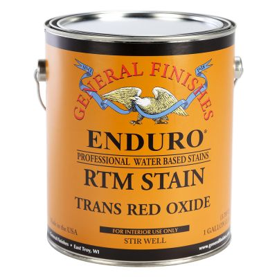 General Finishes Water Based RTM Stain Trans Red Oxide Gallon