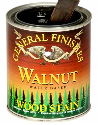 General Finishes Water Based Stain Walnut Quart