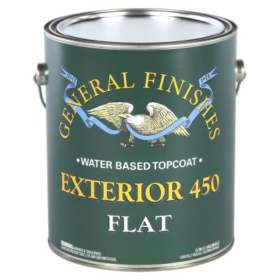 General Finishes Water Based Exterior 450 Clear Flat Gallon