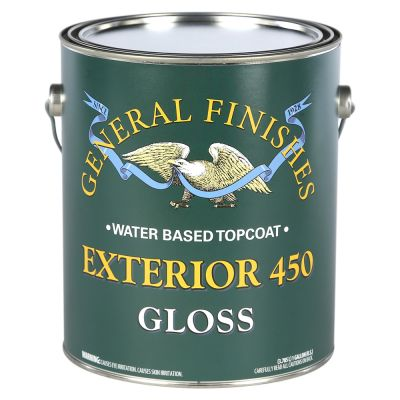 General Finishes Water Based Exterior 450 Clear Gloss Gallon