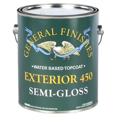 General Finishes Water Based Ext 450 Clear Semi Gloss Gallon