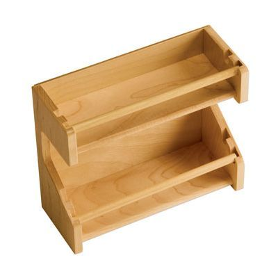"Omega National Door Mount Wood Spice Rack 8-3/4"" W maple"