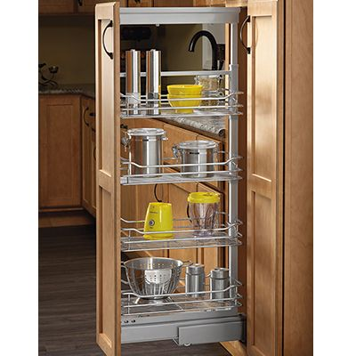 Rev-A-Shelf 5743-20-CR 4 Basket Pantry Pullout Soft Close Chrome