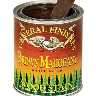 General Finishes Water Based Stain Brown Mahogany Pint