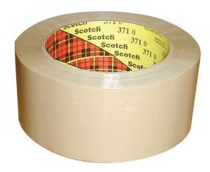 "3M Scotch Industrial Box Sealing Tape 371 Tan 2"" X 109 yd"