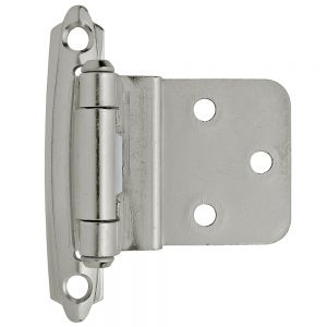 Amerock Hinge For 3/8in Inset Sterling Nickel