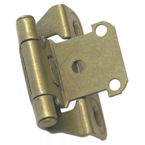Amerock Hinge 1/4in Overlay Burnished Brass