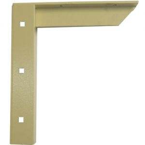 "A & M Concealed Shelf Support Bracket 18"" Almond"