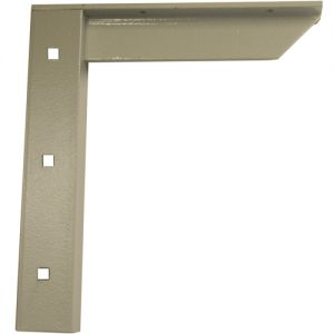 "A & M Concealed Shelf Support Bracket 24"" Gray"