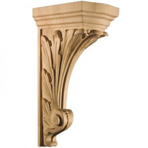 Art For Everyday CBL-NA Series Carved Acanthus Corbel Paint Grade