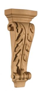 Art for Everyday Corbel Acanthus 4-1/2x1-7/8x10 Maple