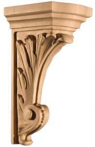 Art for Everyday Corbel Acanthus 3-1/2 x 5 x 9 Maple