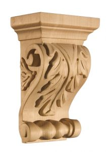 Art for Everyday Corbel Acanthus 5 x 3 x 8 Maple
