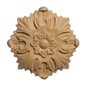 Art For Everyday ROS Series Carved Acanthus Rosette Paint Grade