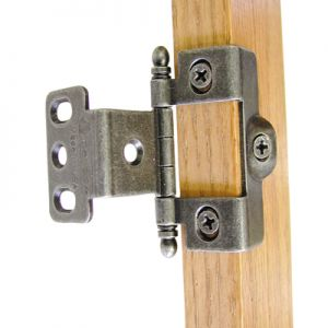 Amerock Full Wrap, Inset, Ball Tip, Wrought Iron Hinge
