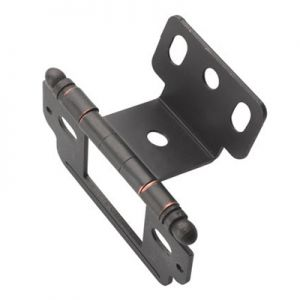 Amerock Partial Wrap, Inset, Ball Tip, Oil Rubbed Bronze Hinge