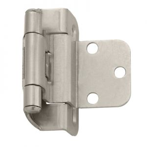 "Amerock 3/8"" Inset, Half Wrap, Self-Closing, Satin Nickel Hinge"
