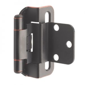 "Amerock 3/8"" Inset, Half Wrap, Self-Closing, Oil Rubbed Bronze Hinge"