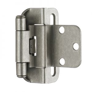 "Amerock 3/8"" Inset, Half Wrap, Self-Closing, Weathered Nickel Hinge"