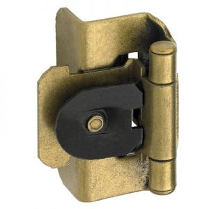 "Amerock Double Demountable, 1/2"" Overlay, Burnished Brass Hinge"