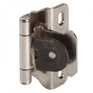 "Amerock Single Demountable, 1/4"" Overlay, Nickel Hinge"