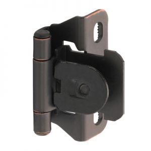 "Amerock Single Demountable, 1/4"" Overlay, Oil Rubbed Bronze Hinge"