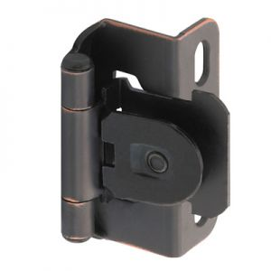 "Amerock Single Demountable, 1/2"" Overlay, Oil Rubbed Bronze Hinge"